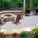 Patio solves slope and shade